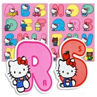 Out of the Blue 3D-Aufkleber - Hello Kitty Alphabet